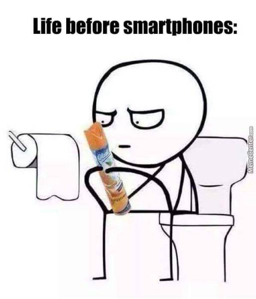 Life before smartphones.