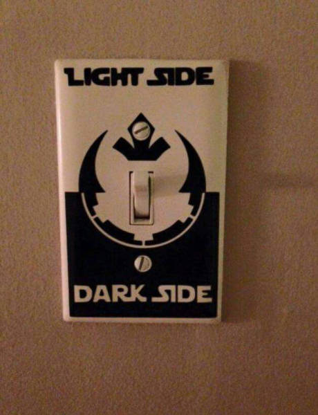 Light Side Or Dark Switch Covers Put You In Control Of Your Destiny