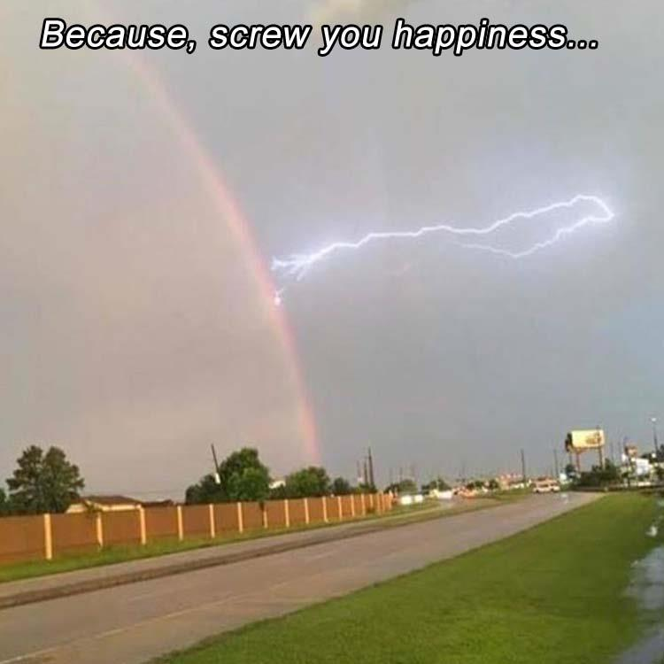 Lightning vs. Rainbow
