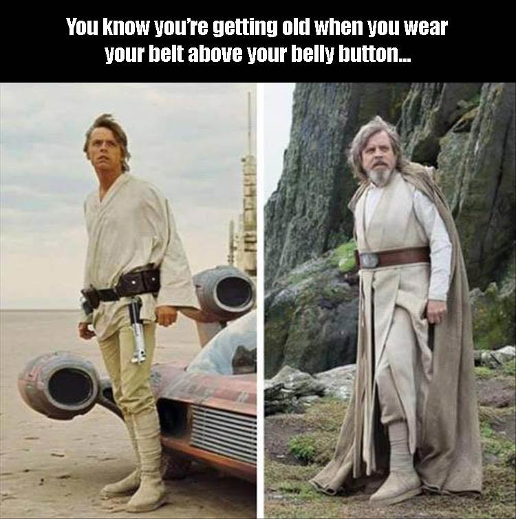 Luke Skywalker is old.
