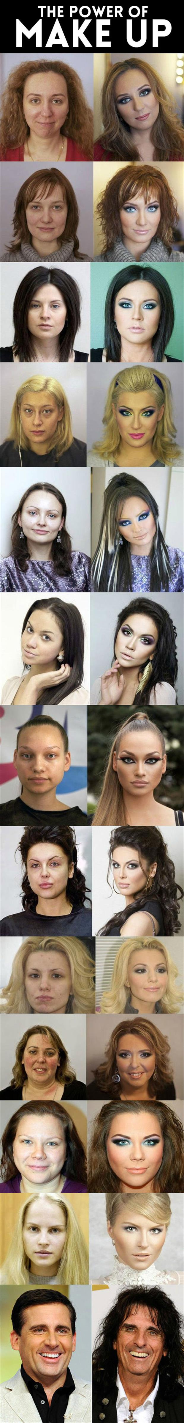 Makeup can help to greatly improve your appearance and these pictures are proof.