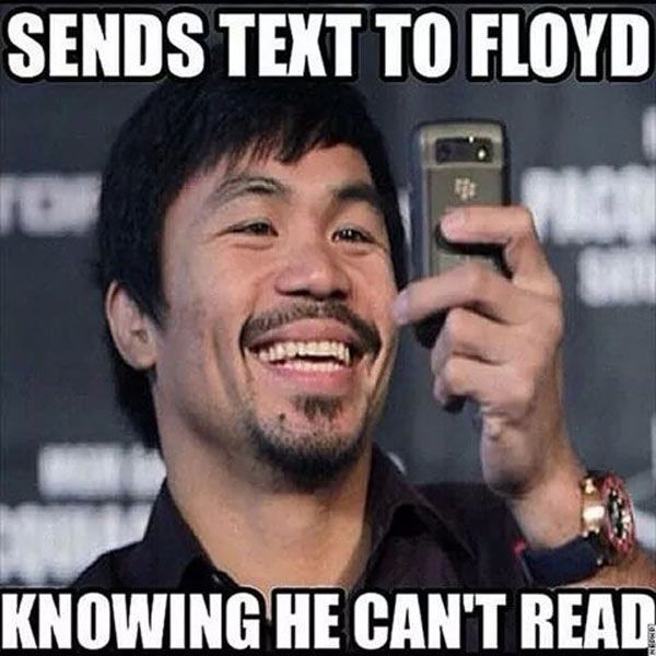 Manny Pacquiao already beat Floyd Mayweather.
