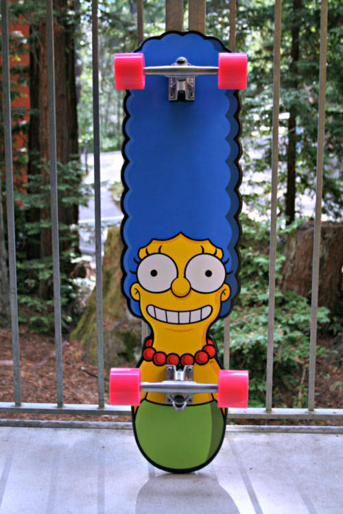 Marge Simpson skateboard.