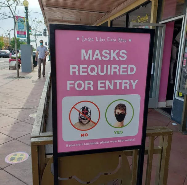 Masks required for entry.