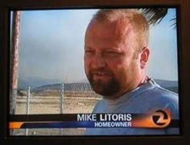 Mike Litoris made it on the news today.