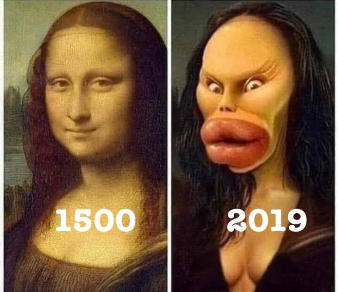 Mona Lisa: Then and Now