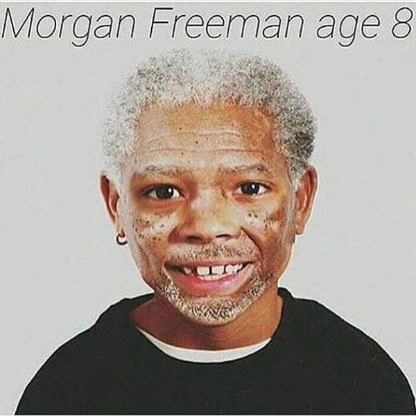 Morgan Freeman at age 8.