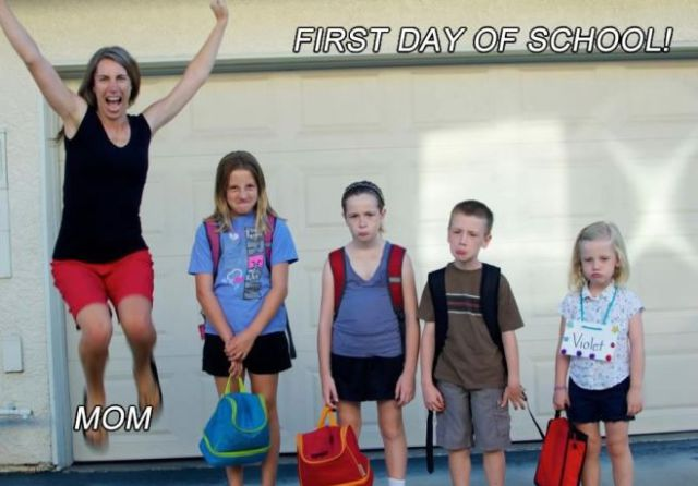 Mother's Everywhere Love Back To School Time