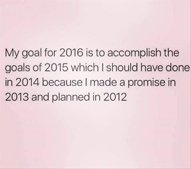 My goal for 2016.