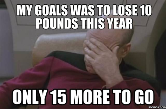 My goal was to lose 10 pounds this year.