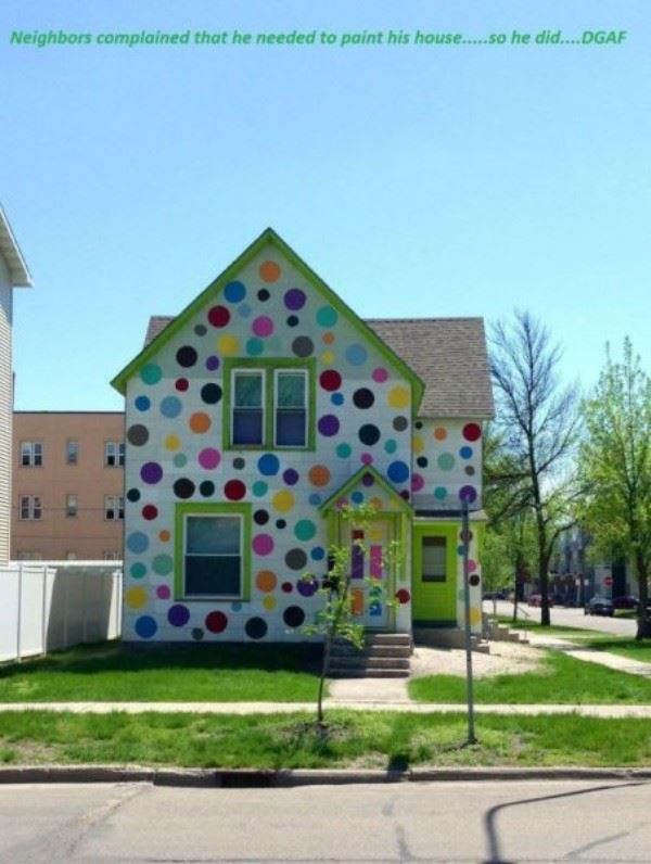 Neighbors Complained That This Man Needed To Paint His House....So He Did.