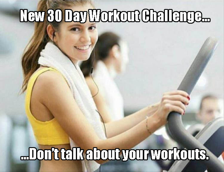 New 30 day workout challenge.