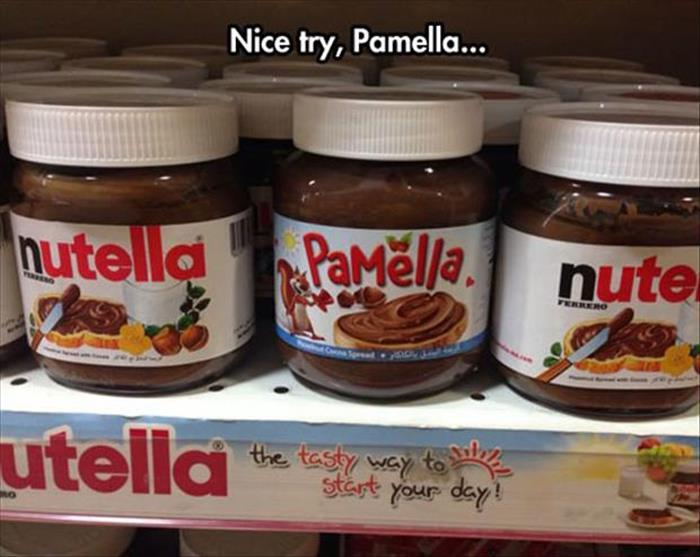 Nice try Pamella, but there can be only one Nutella.
