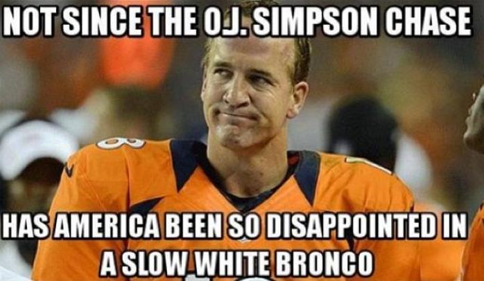 Not since the O.J. Simpson chase has America been so disappointed in a slow white Bronco.