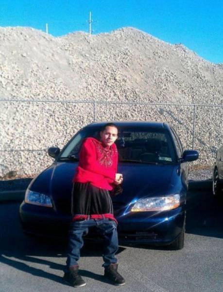 nothing says cool like leaning up against your car with your pants