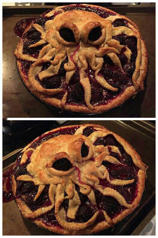 Octopus pie is pure genius.