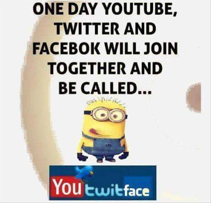 One day Youtube, Twitter, and Facebook will all join together.