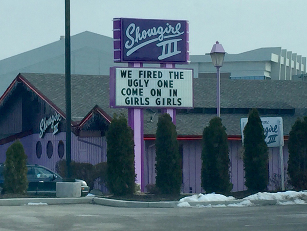 Patrons of this strip club have now been notified it is safe to return.