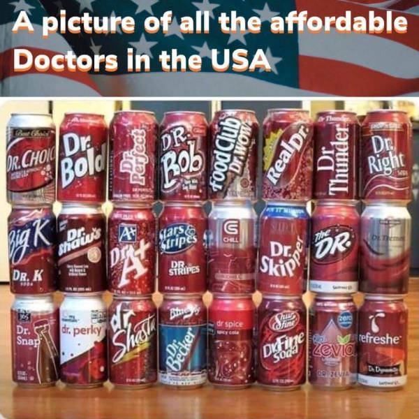 Picture of all the affordable doctors in the United States.