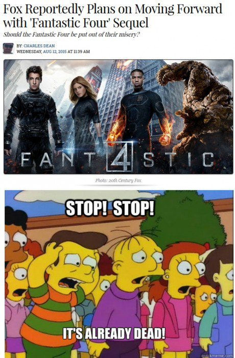 Plans on moving forward with a 'Fantastic Four' sequel...
