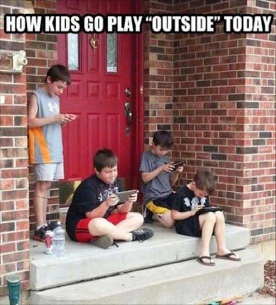 Playing Outside Has A Whole New Meaning By Today's Standards.