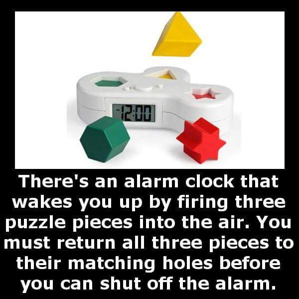 Possibly the most annoying alarm clock in the world.