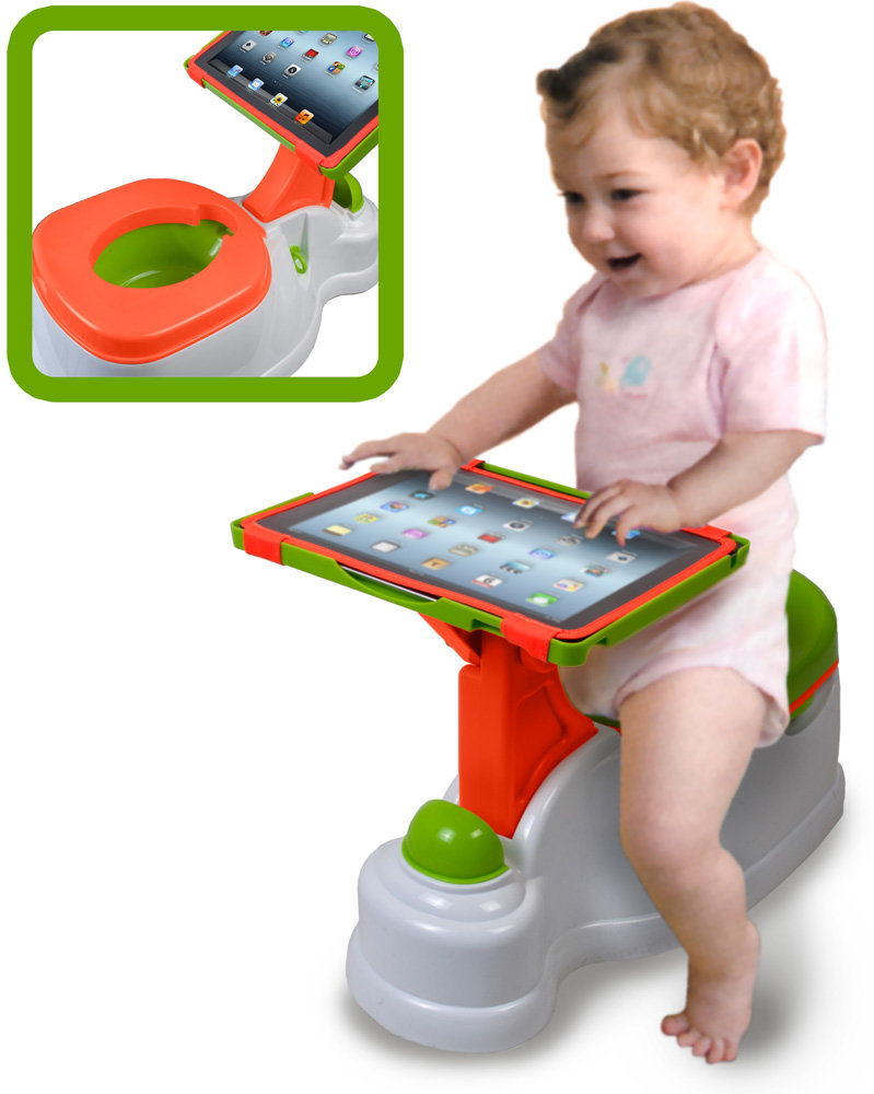 Potty training toilet with built in iPad holder. Are you shitting me?