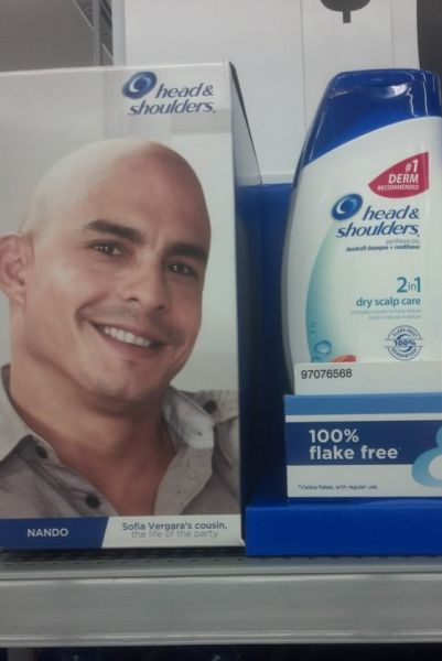 Probably Not The Best Guy To Use For A Head And Shoulders Shampoo Campaign.