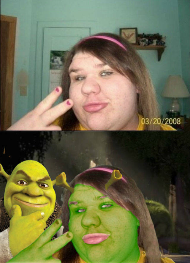 Real life Princess Fiona from the movie Shrek.