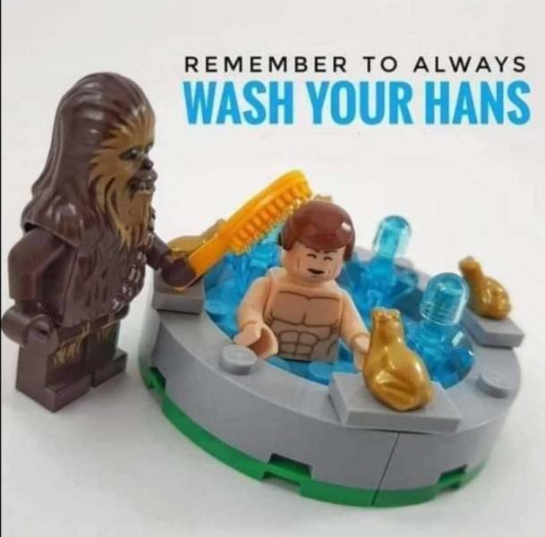 Remember to always wash your Hans.