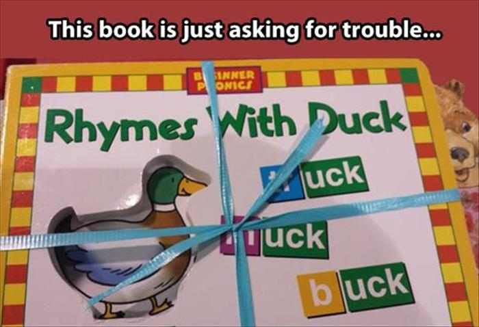 'Rhymes With Duck' children's book is just asking for trouble.