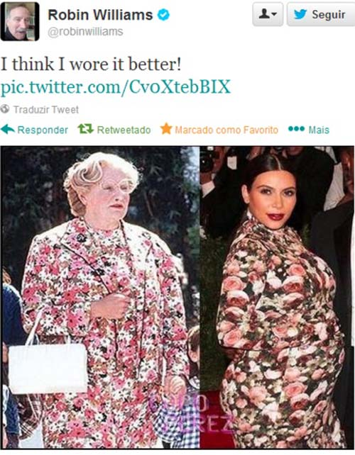 Mrs. Doubtfire vs Kim Kardashian. Who wore it better?