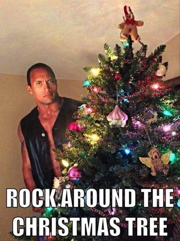 Rock around the Christmas tree.