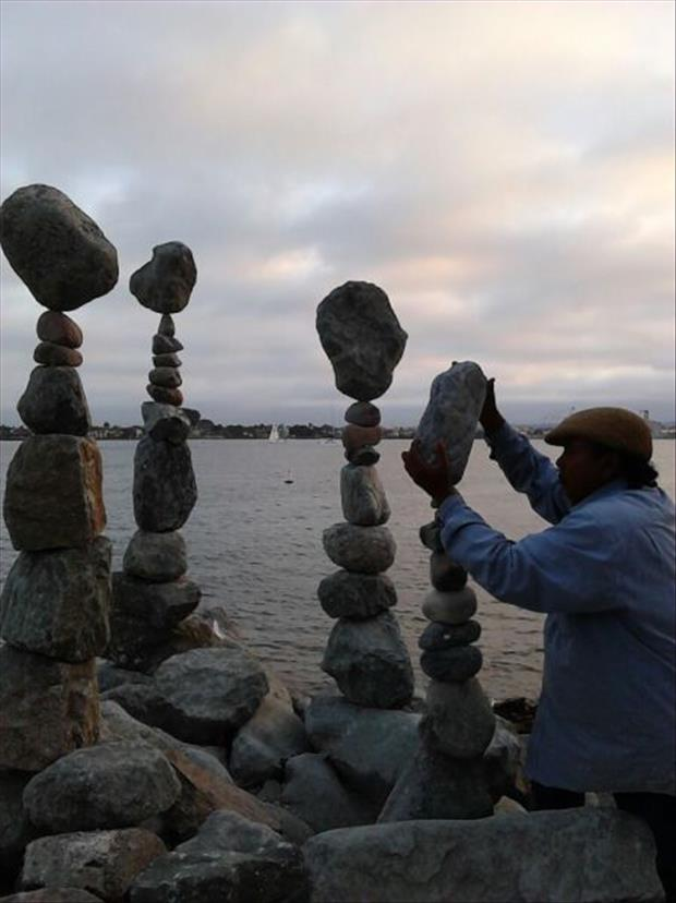 Rock stacking expert