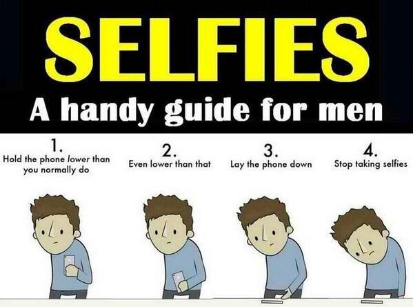 Selfies: A handy guide for men.