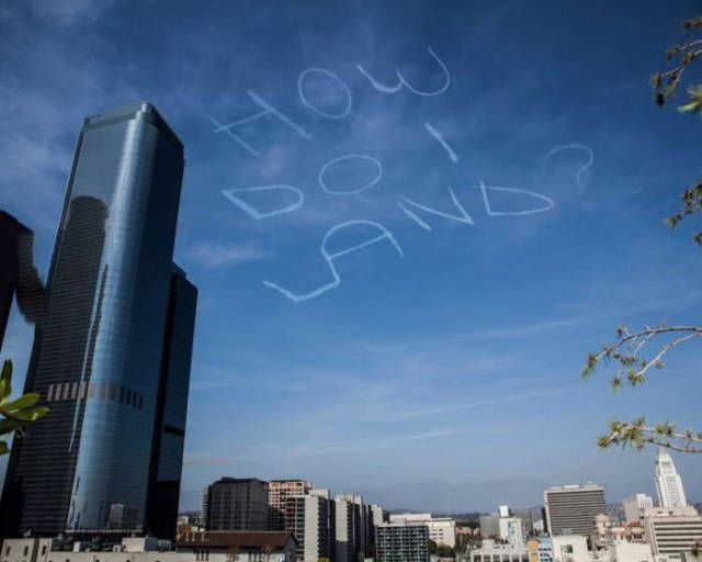 Skywriter having fun doing some trolling.