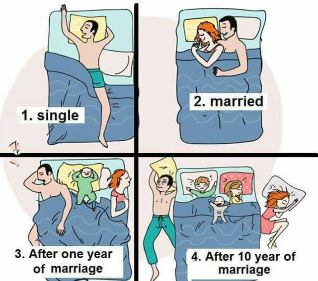 Sleeping Habits Single Vs Married Realfunny