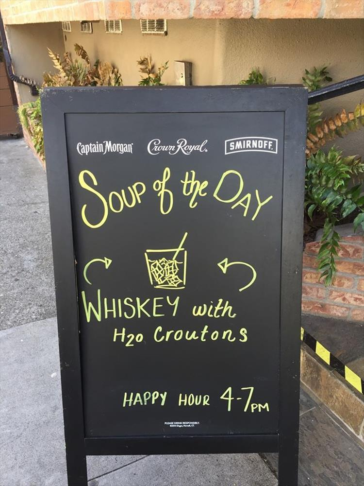 Soup of the day.