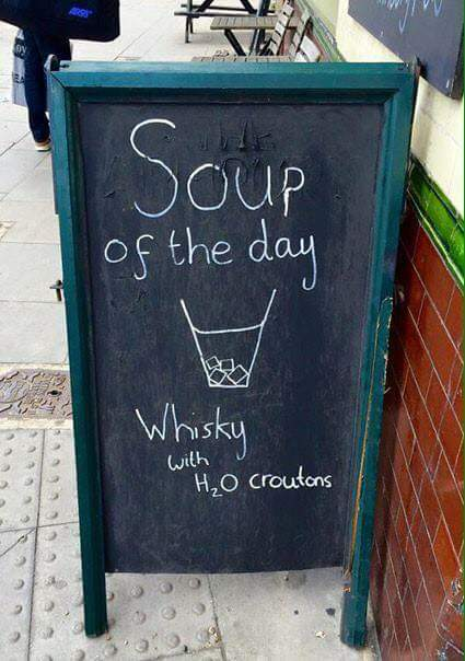 Soup of the day sounds absolutely delightful.