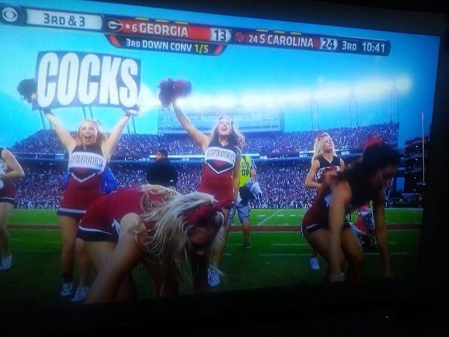 South Carolina Gamecocks Cheerleaders Are Always Full Of Excitement.