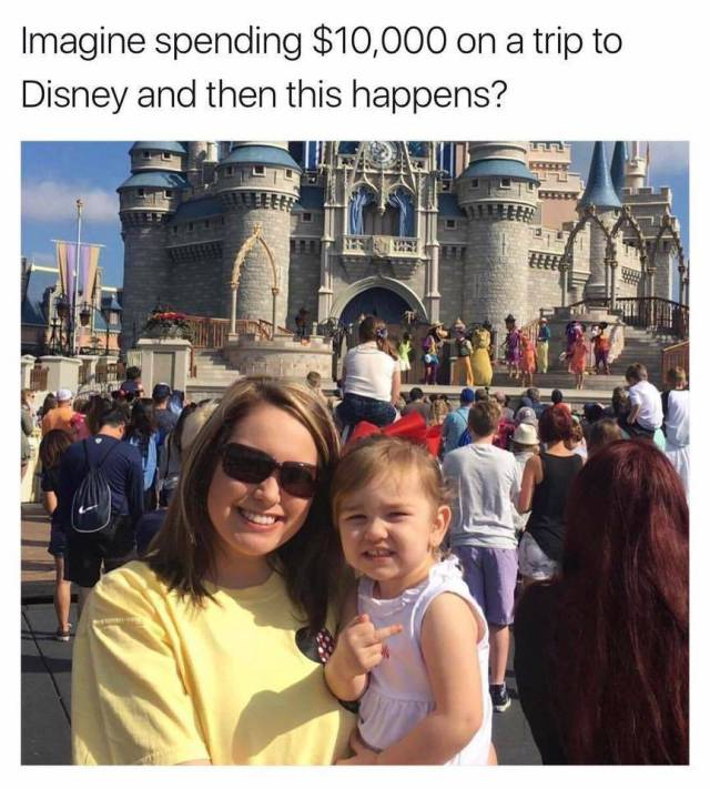 Imagine spending $10,000 on a trip to Disney and then this happens?