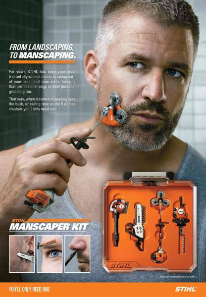 Stihl manscaper kit. From landscaping to manscaping.