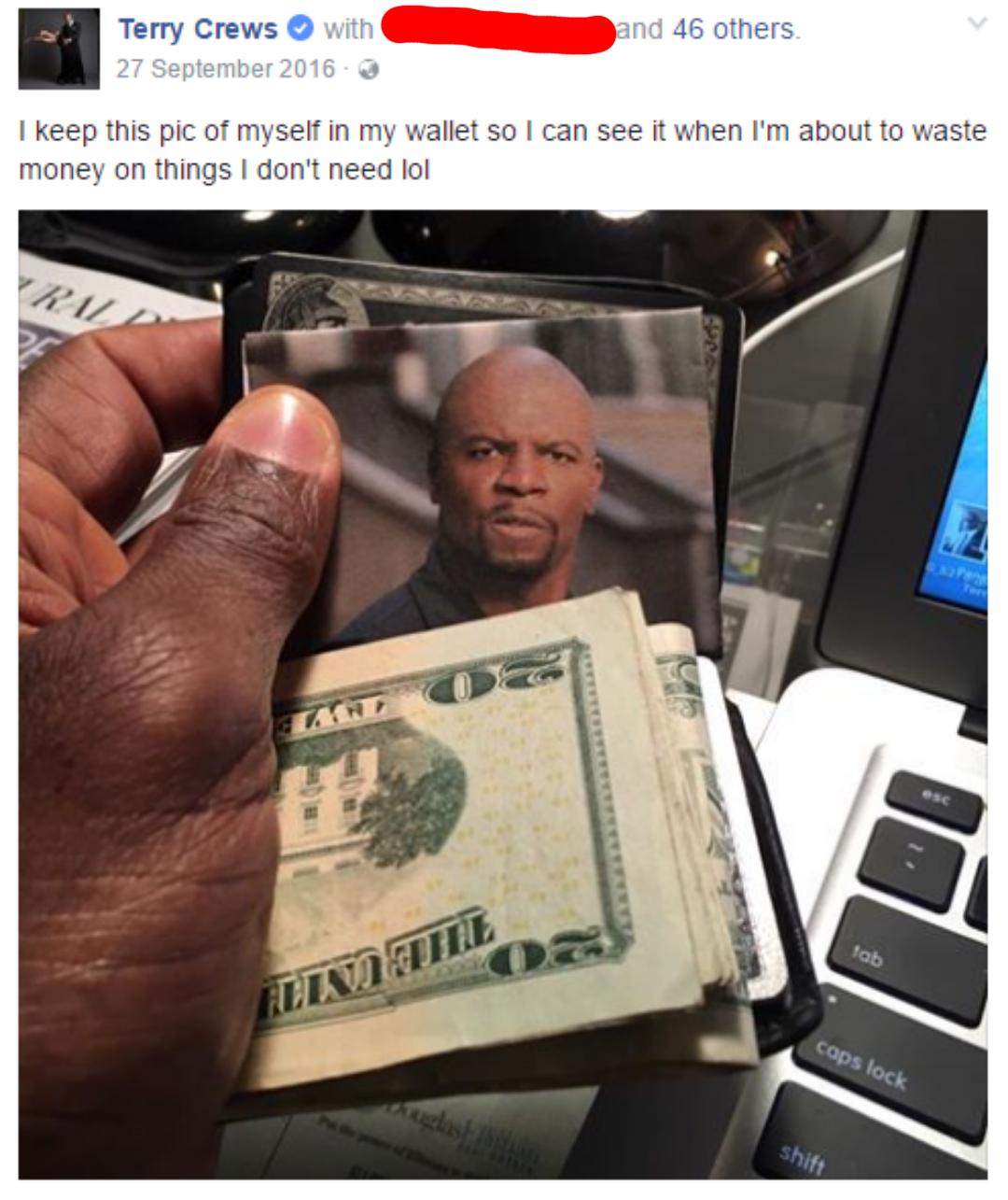 Terry Crews does not waste money on things he doesn't need.