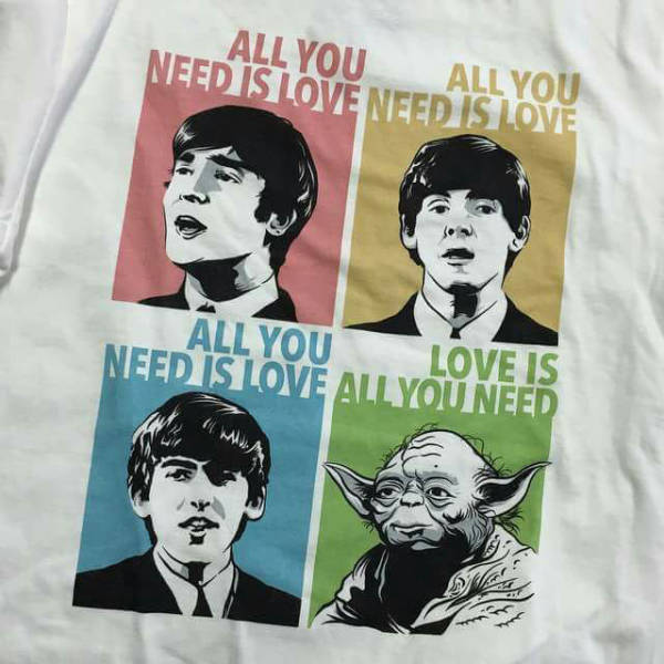 The Beatles and Yoda. All you need is love. Love is all you need.
