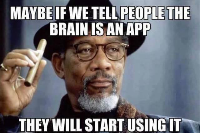 The brain is an app.