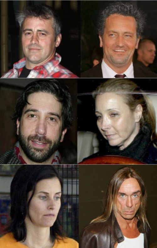 The cast of 'Friends' without makeup.