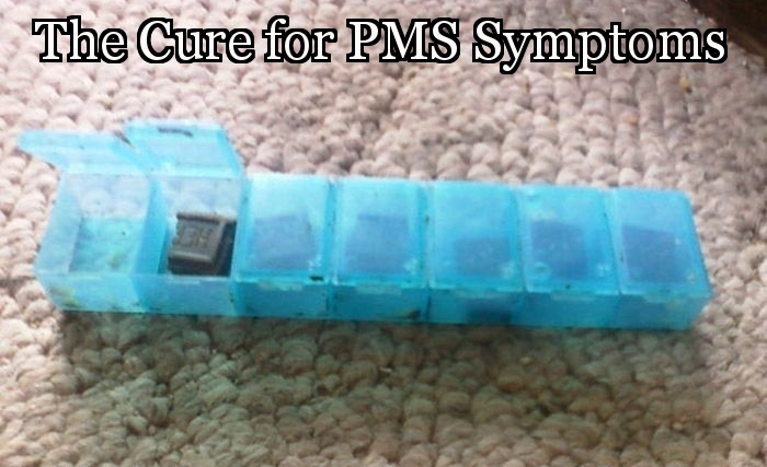 The cure for Premenstrual syndrome (PMS) symptoms has finally been discovered.