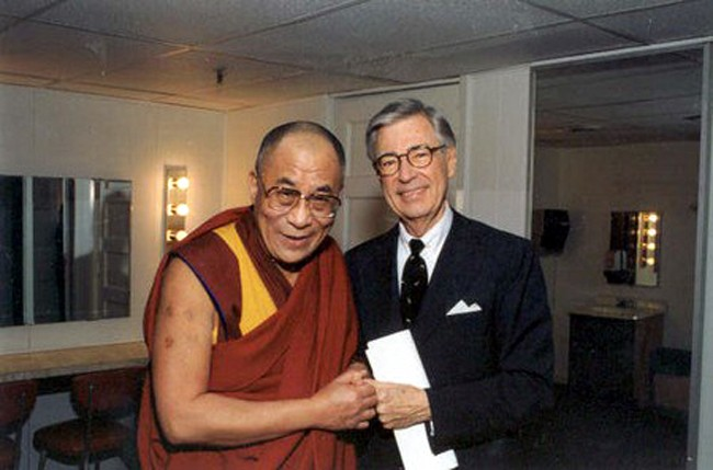 The Dalai Lama And Mr. Rogers. A Beautiful Thing.