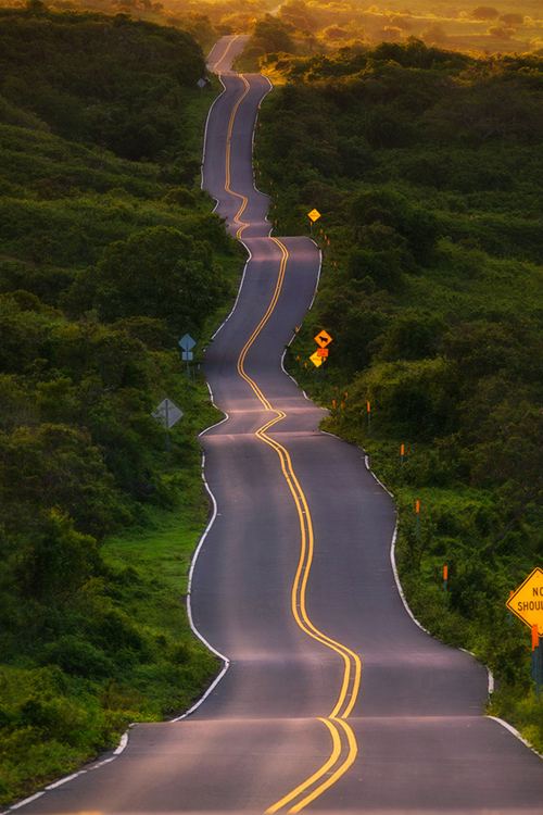 The Drunk Highway located in Maui, Hawaii has a very fitting name.