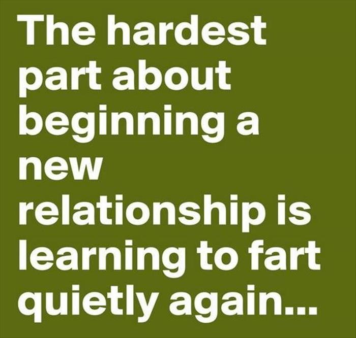 The hardest part of a new relationship.